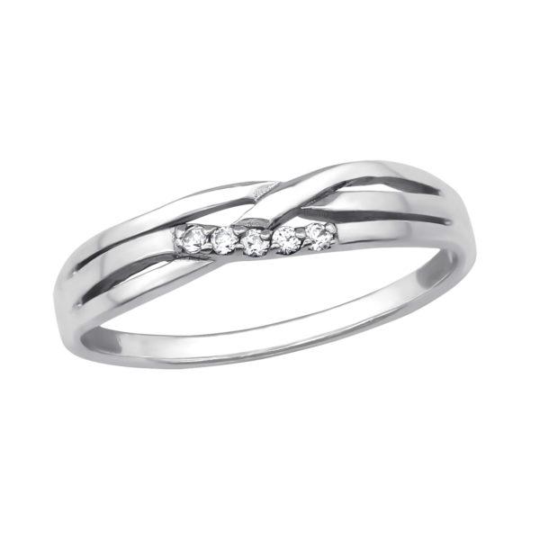 Antiek zilveren ring met zirkonia