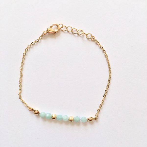 Armband met amazoniet kralen goud
