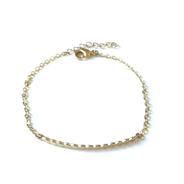 Armband met fijne bedels goud