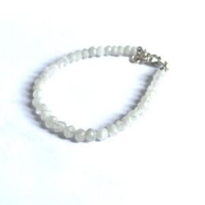 Edelsteen armband maansteen 925 zilver