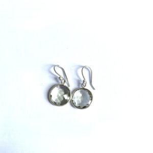 Edelsteen oorbellen green amethyst 925 zilver