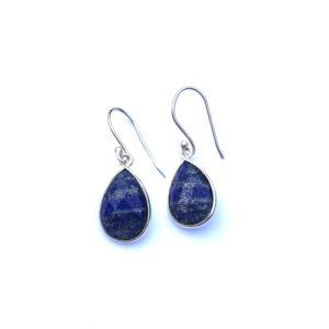 Edelsteen oorbellen lapis lazuli 925 zilver