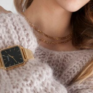 Statement horloge goud