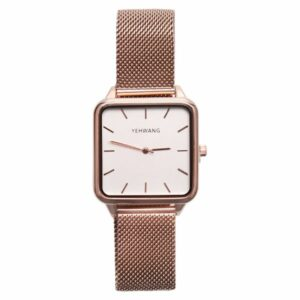 Statement horloge rose goud