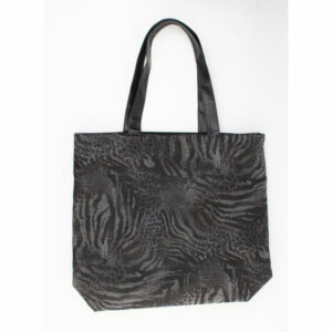 Zwarte shopper PU leer