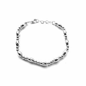 Fijne metalen armband zilver