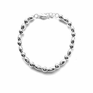 Fijne metalen armband zilver 2