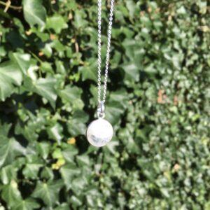 Ketting met hanger maansteen zilver