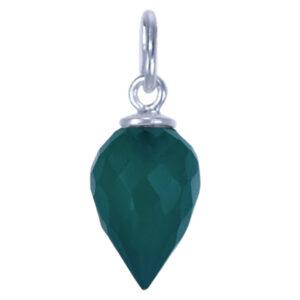 Kettinghanger met edelsteen zilver groene onyx