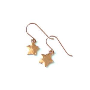 Kleine oorbellen ster rosé goud
