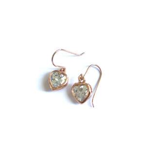 Kleine oorbellen zirkonia hart rosé goud