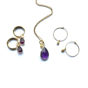Sieraden set Shiny Purple goud