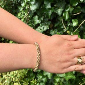 Statement armband (goud)