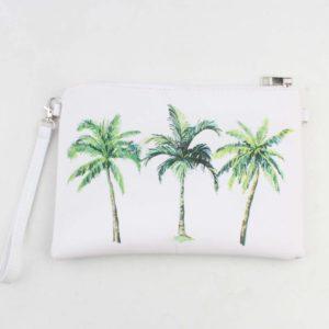 Toilettas palmbomen wit groen