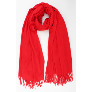 Warme sjaal rood