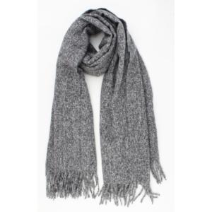 Zachte sjaal donkergrijs