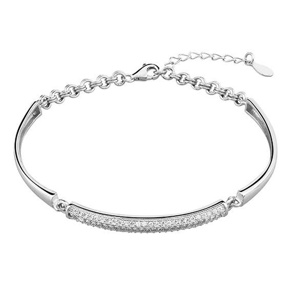 Zilveren armband met zirkonia 925 zilver