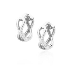 Zilveren infinity oorbellen mini