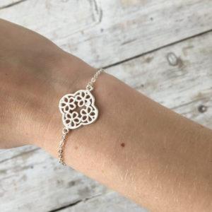 armband met bloem