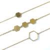 minimalistische armbanden hexagon goud